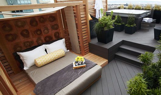 Makeover: Rooftop Bedroom with Hot Tub, Anyone?