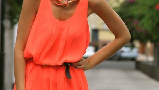Simple Coral Dress
