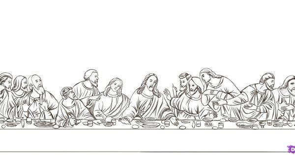 Leonardo Da Vinci The Last Supper Coloring Page preschool ... Da Vinci Last Supper Coloring Pages