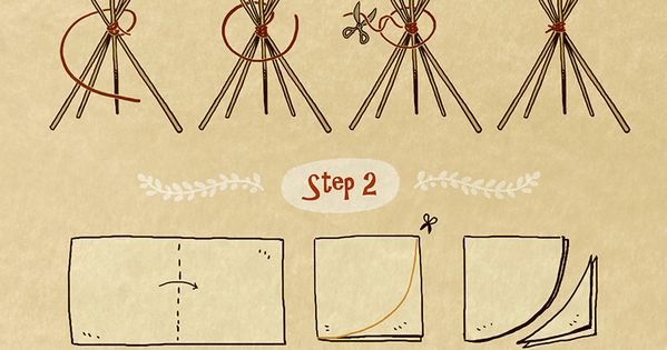 Pet tipi tent illustration tutorial tipis eres perfecto - Tipi para perros ...