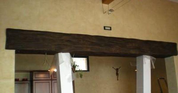Rivestimento putrella in ferro di polistirolo finitura for Travi in finto legno prezzi