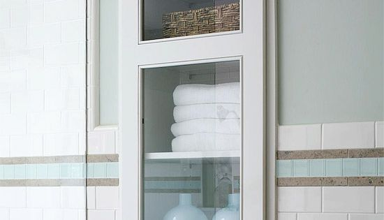 Recessed Storage Solution for small bathrooms