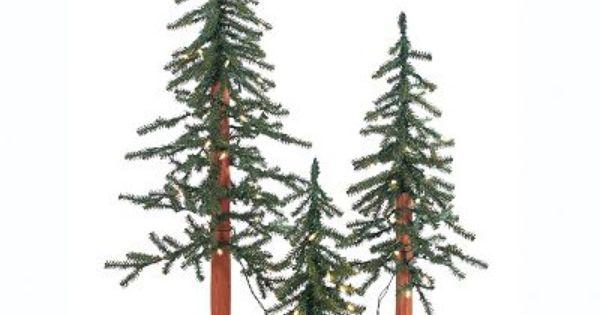 Sterling 3-piece Pre-Lit Artificial Alpine Christmas Tree