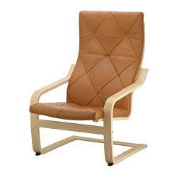 Poang Armchair Glose Dark Brown Seat Depth 19 5 8 Seat Height