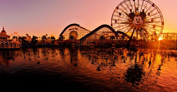 Paradise Pier in Disney Land California.