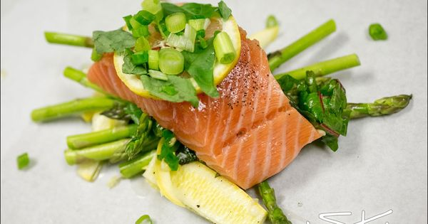 salmon with veggies in parchment paper | Here, fishy fishy ...