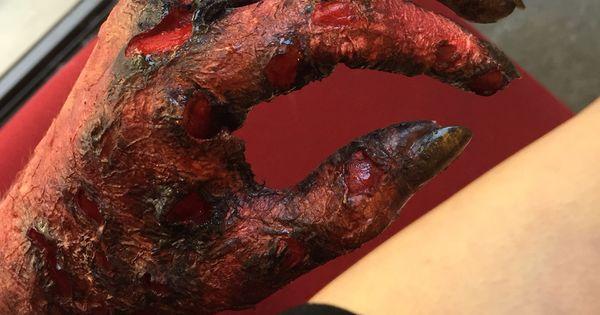 3rd Degree Burn Sfx Makeup Demonic Hand Fx Sfx