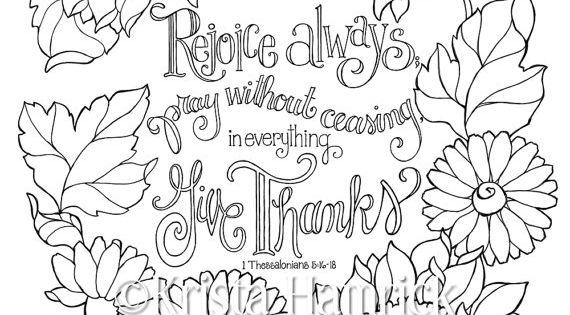 rejoice coloring pages - photo#22