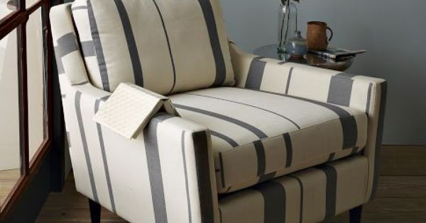 Everett Striped Chair - Contemporary - Armchairs And Accent Chairs - by