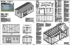10 X 20 Shed Plans 10x20 Shed Building A Shed Shed Plans