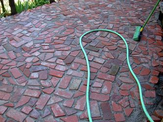 Recycled Bricks With Images Garden Paving Brick Patios Patio