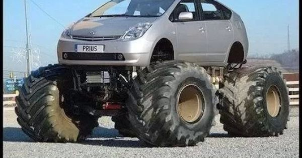 Monster Prius | Monster trucks | Pinterest | Monster trucks, Electric vehicle and Cars