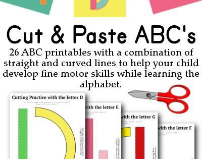 Cut & Paste ABC's. These would be great to make with kids