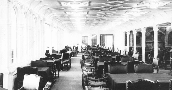 The First Class Dining Salon Located Amidships On The D