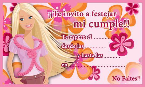 Tarjeta De Cumpleaños De Barbie En 2020 Cumpleaños De