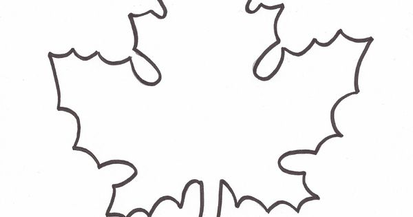 Leaf Template To Use For Giving Thanks Writing Activity To