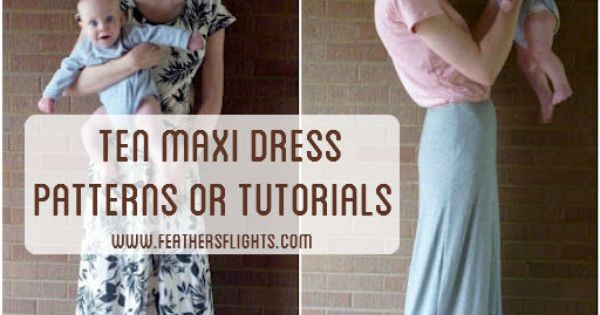 10 maxi dress tutorials