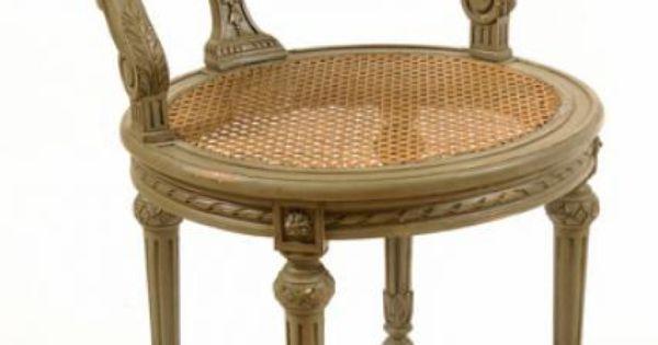 French lisette vanity stool available is designed for the elegant boudoir - Elegant vanity stools ...