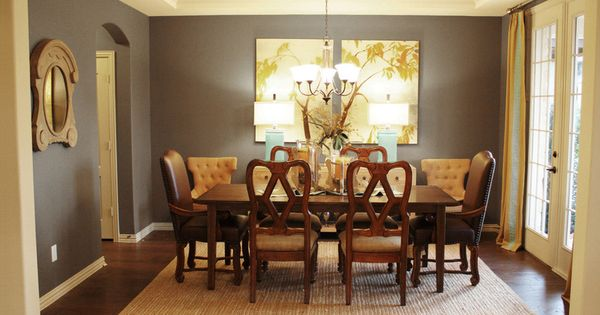 Traditional Dining Room By Cristi Holcombe Gray Tan And