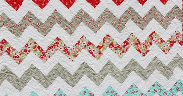 Zig Zag Quilt Pattern No Triangles : Great zig-zag quilt @ being brook using no half square triangle tutorial here: http ...