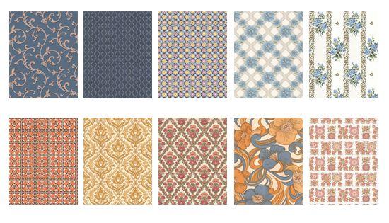 12 papiers peints vintage r tro et o les acheter papier peint vintage vintage r tro et. Black Bedroom Furniture Sets. Home Design Ideas
