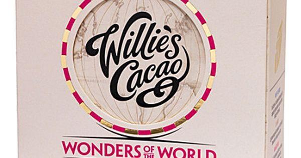 Willies Cacao white, milk and dark chocolate tasting box.