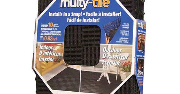 Multy home interlocking multy tile 12 x 12 at menards for Gardening tools menards