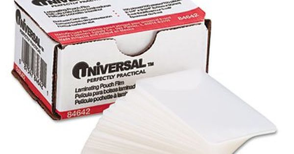 Clear Laminating Pouches, 5 mil, 2 1/4 X 3 3/4, Business Card Size - 2 X 4 Label Template 10 Per Sheet