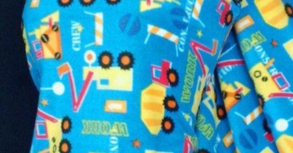 Polar Fleece Anti Pill Soft Construction Truck Fabric