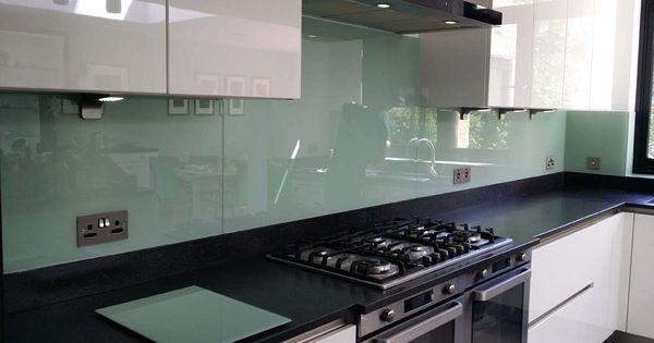Tuscan glade glass colour kitchen splashback by creoglass for Cheap kitchen splashback ideas