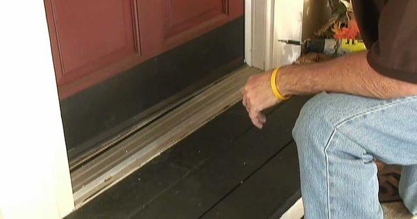 Weather Stripping Doors: How To Weather-Strip Doors Using A Doorsweep