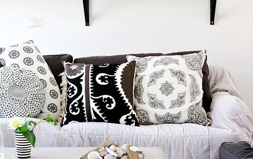 Black and White Pillows - pattern play