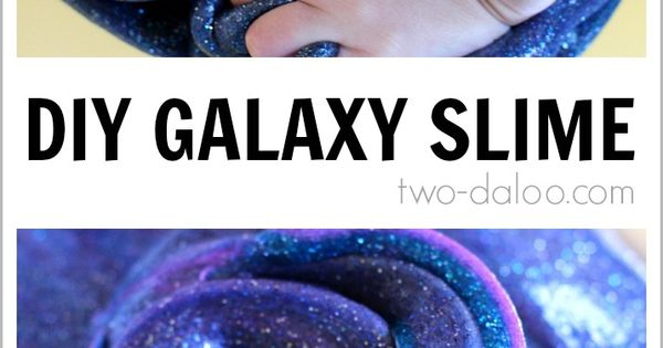 DIY Galaxy Slime Hinda Levin how cool for school!?