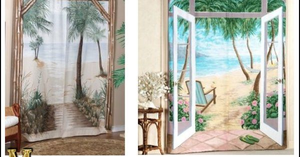 Bamboo Beach Rod Pocket Curtain Pair Use Instead Of Closet Doors Home By The Sea Rental