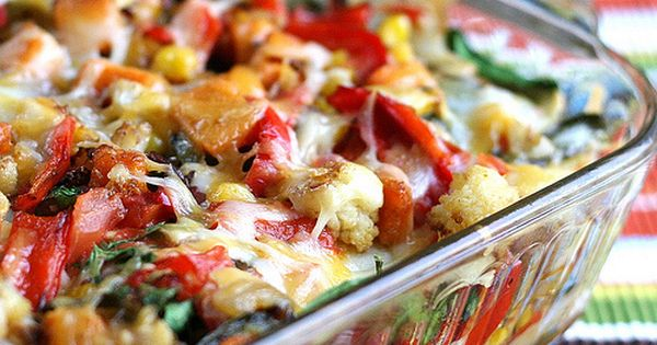 Stacked Roasted Vegetable Enchiladas - Perry's Plate