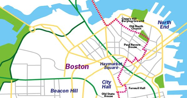 Boston Freedom Trail Mapalso Look At Maritime History