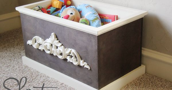 DIY Wood Toy Box or Blanket Box for dog toys