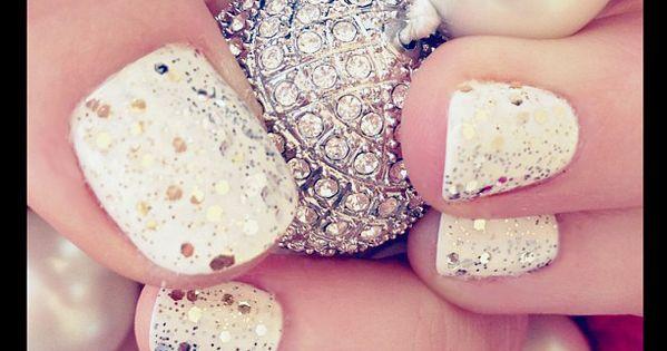 does anyone have white nail polish and gold sparkled nail polish?! i