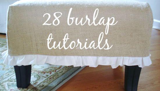 28 Burlap Ideas