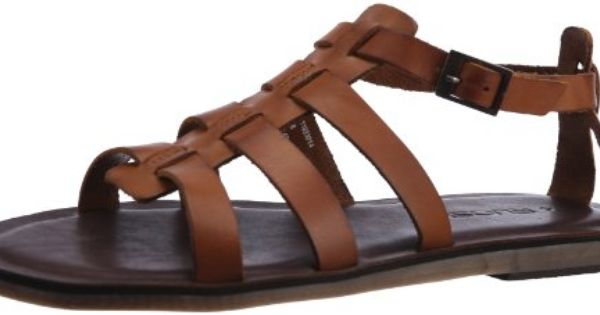 Ruosh Men's Tan Leather Sandals and