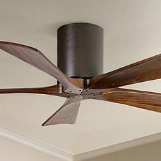 No Lght But Den Option42 Matthews Irene 5 Blade Walnut Bronze Hugger Ceiling Fan Hugger Ceiling Fan Ceiling Fan Ceiling Fans Without Lights