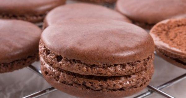 الماكرون بالشوكولاتة Recipe Food Arabic Food Desserts