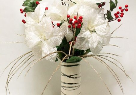 how to make a poinsettia turn white