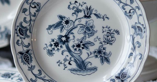 Salad Plate In Ming Tree Blue By Nikko Made In Japan Blue