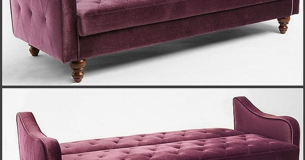 Ava Velvet Tufted Sleeper Sofa