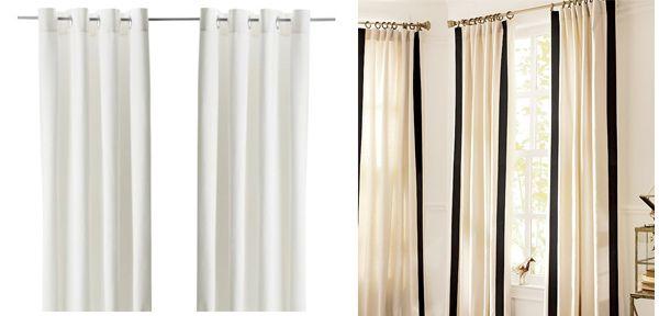 Ikea To Pottery Barn Curtain Hack Pottery Barn Curtains Curtains Ikea Curtains