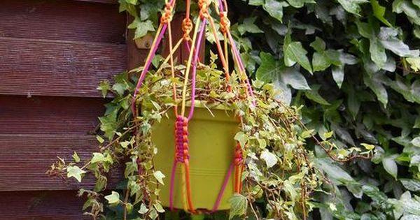 Tutoriel Suspension Pour Pot De Fleurs En Macram Femme2decotv Plantes Pinterest Pots