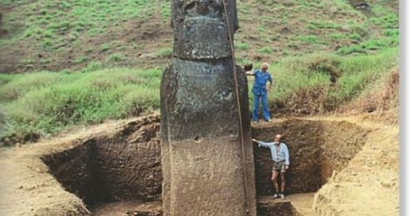 The Easter Island Heads have full bodies. Who knew?