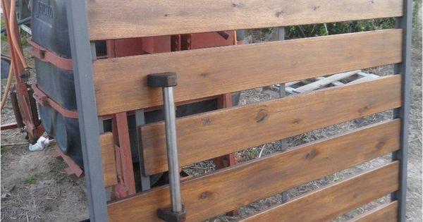 Porton en hierro y madera canelones hogar muebles - Verjas de madera ...