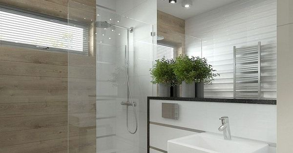 wandfliesen in wei und holzoptik graue bodenfliesen und spiegelwand stauraum ideen. Black Bedroom Furniture Sets. Home Design Ideas